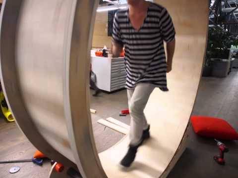 The Human Hamster Wheel Standing Desk Treadmill