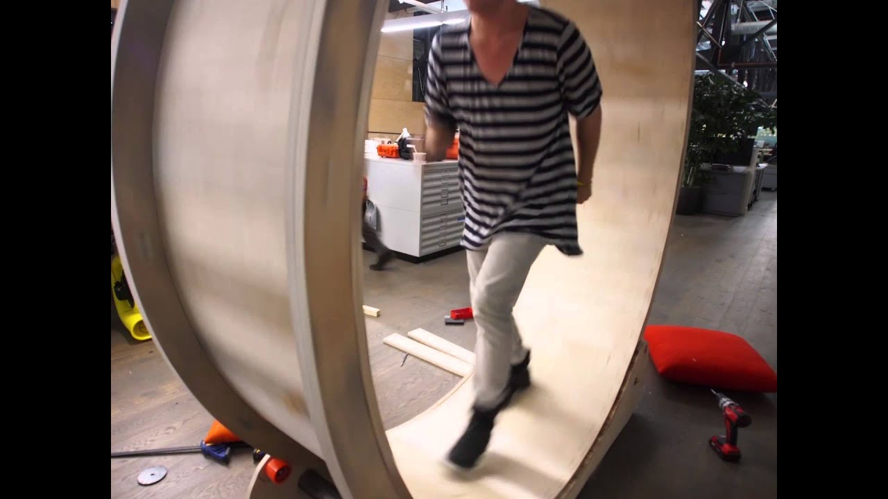 Hamster Wheel Standing Desk Time Lapse Youtube