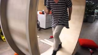 Hamster Wheel Standing Desk Time Lapse