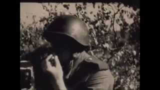 Военные Песни.  Марк Бернес - На Безымянной Высоте. Военная Кинохроника