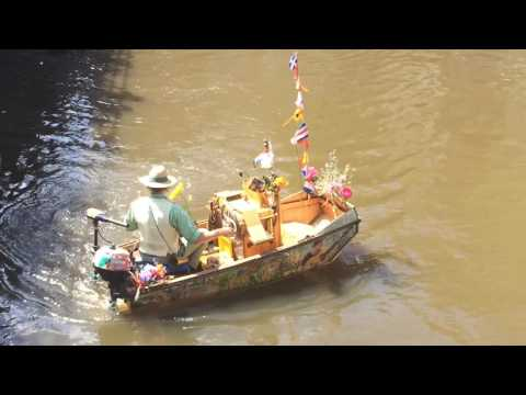 Guy Playing Instruments While Controlling a Boat! Must Watch! Amazing!