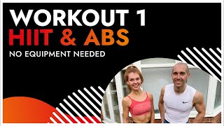 30 Minute HIIT & ABS Workout 1| No Equipment - January Fitness Challenge | BodyByJR TV