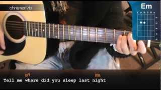 cmo tocar where did you sleep last night de nirvana en guitarra hd acordes christianvib