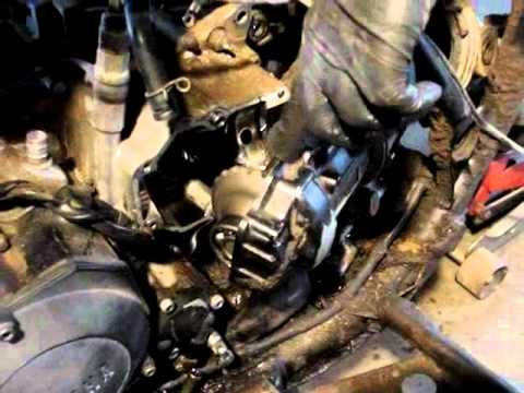 yamaha big bear  engine removal youtube