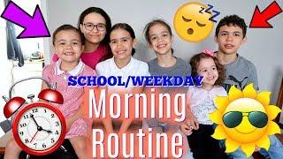 WEEKDAY MORNING ROUTINE 6 KIDS!!👫👫👭