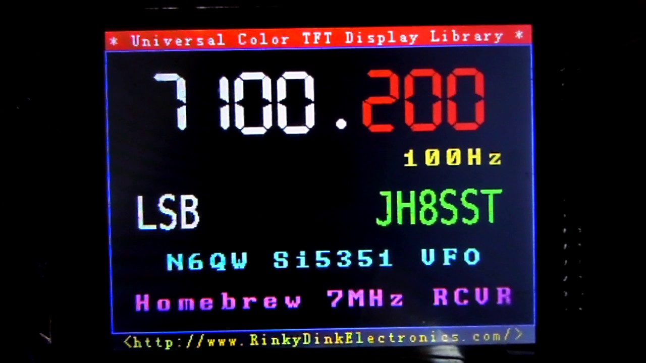 JH8SST/7 - 3 2` Display employed in N6QW's Si5351 VFO by FujichromeR100