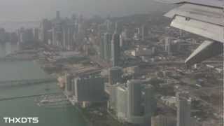 Landing at Miami International Airport 1-28-12 HD 1080p