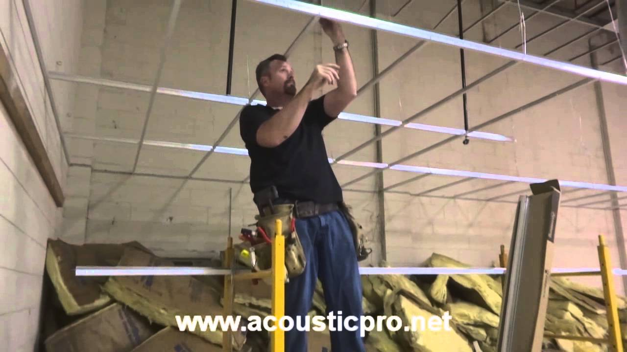 Drop Ceiling Grid N Tile Acoustical Install Video