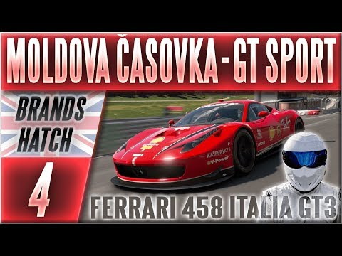 Moldova Časovka   #4   Ferrari 458 Italia GT3 + Tajný Bonus! - Gran Turismo Sport CZ (Brands Hatch) thumbnail
