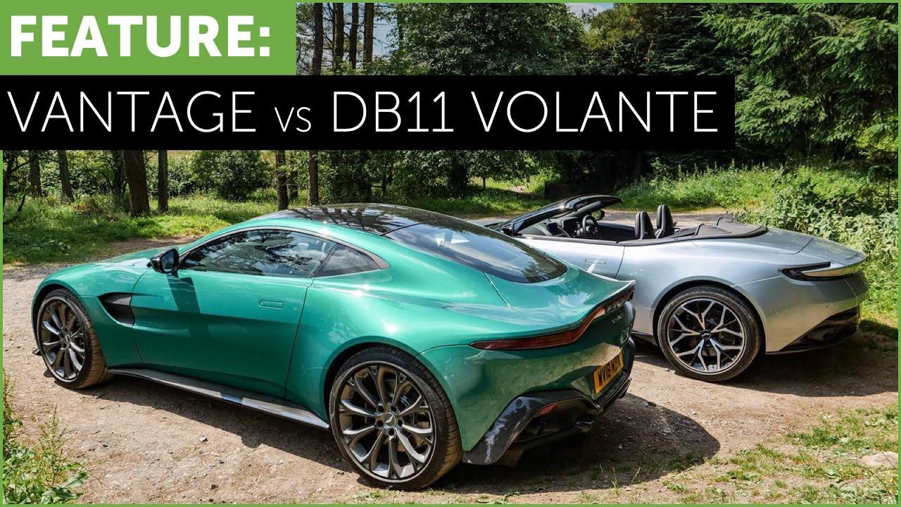 New Aston Martin Vantage Vs Db11 Volante With Race Track Ending W Tiff Needell Youtube