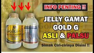 Gold G 500 - Jelly Gamat Gold G Sea Cucumber 500ml Asli Original