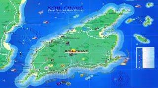Ко  Чанг Карта острова Koh Chang map of the island(Koh Chang райский остров в Таиланде. Все видео на канале --https://www.youtube.com/channel/UCIe2_eGCpOe2PQgExN2eIXg Подписывайтесь на кана., 2016-03-07T08:55:34.000Z)