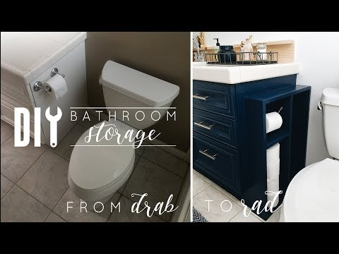 DIY Small Bathroom Storage | Toilet Paper Holder