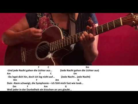 Jede Nacht-Philipp Dittberner feat.Chima Ede / Guitar/Cover/Tutorial/Lyrics/Chords/Gitarre/easy