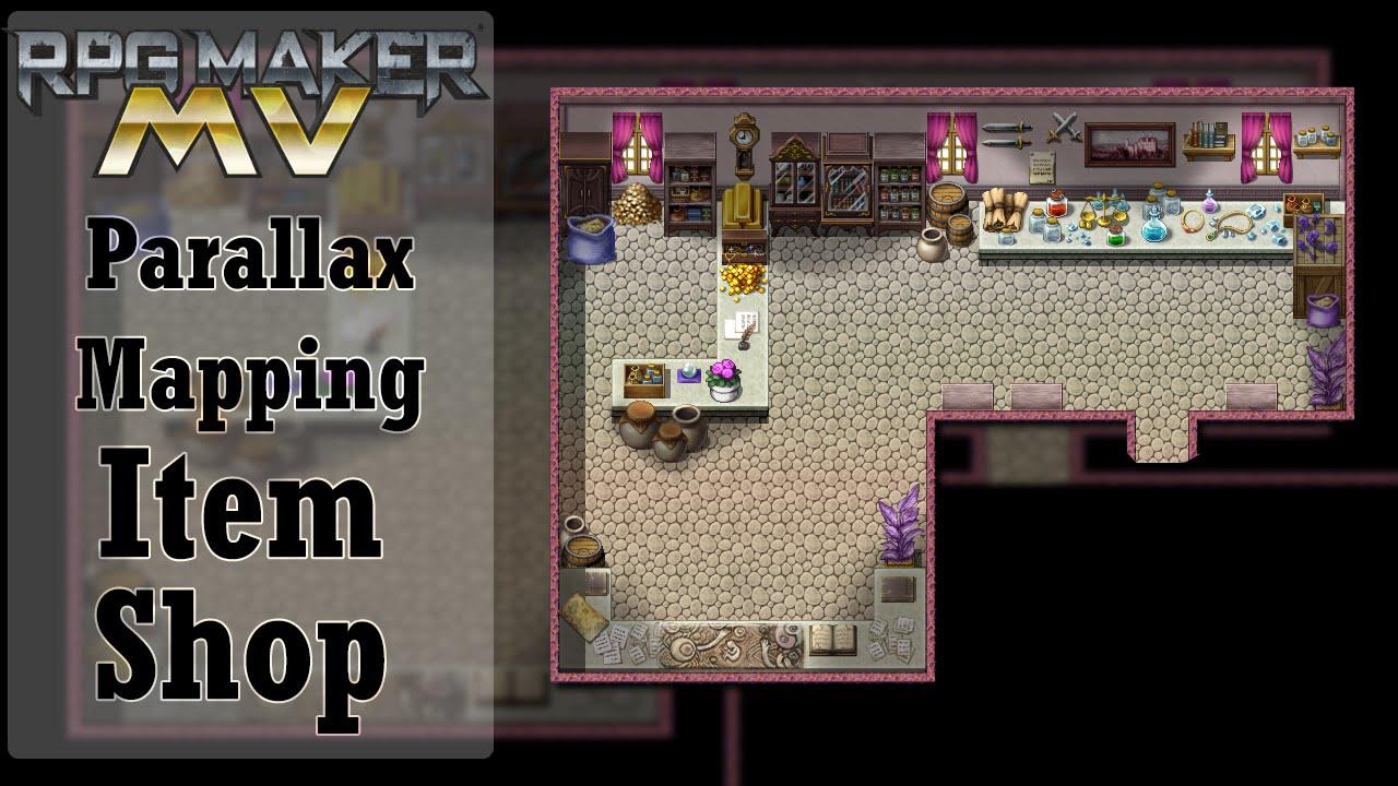 Rpg Maker Mv Parallax Mapping Item Shop Youtube