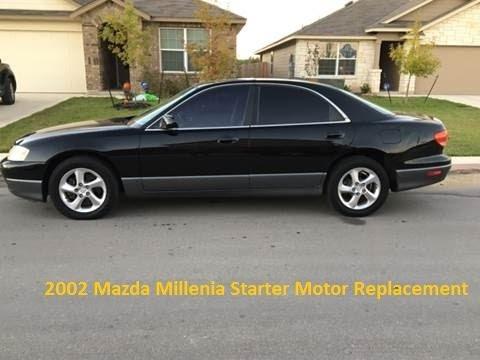 2002 mazda millenia / 626 starter motor replacement - youtube