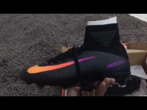 super popular 9d155 9bc79 Kasut bola Nike mercurial superfly v ag-pro black orange