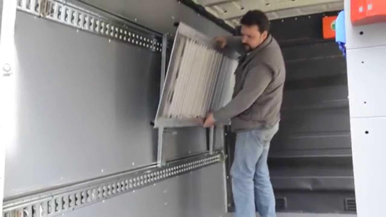 sistema di ancoraggio rapido rampa di carico per furgoni
