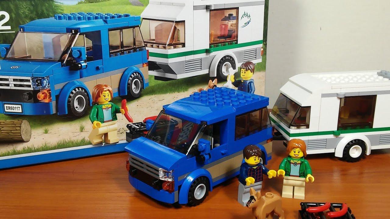 Lego Van Z Przyczepą Kempingową Recenzja Zestawu Nr 60117 Youtube