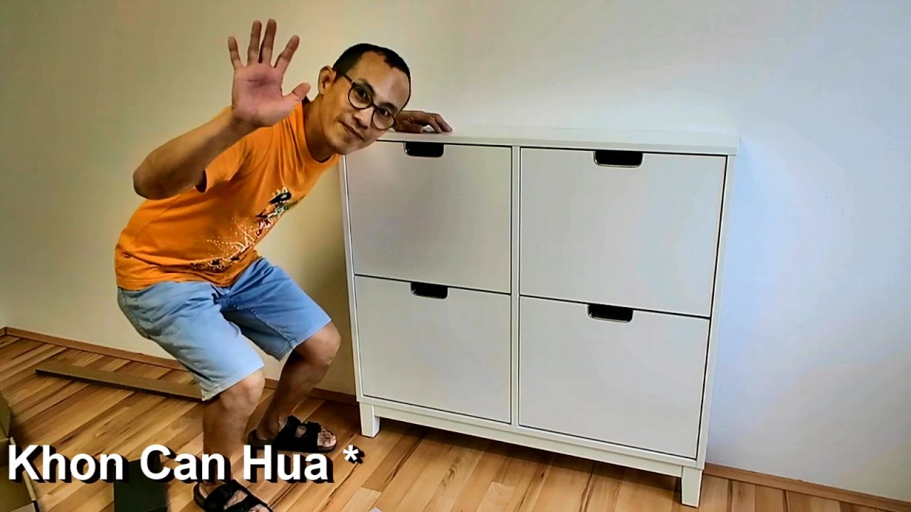 How to assemble Ikea Stall shoe cabinet with 4