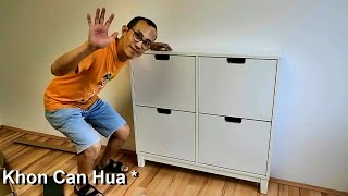 How to assemble Ikea Stall shoe cabinet with 4 compartments