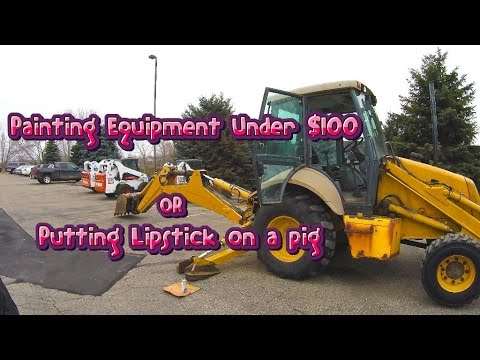 How To Paint Heavy Equipment For Under $100