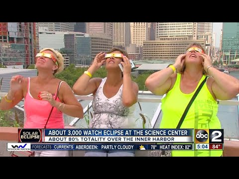 About 3,000 people watch eclipse from Maryland Science Center