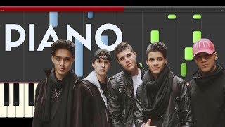 CNCO Se Vuelve Loca Piano Midi tutorial Sheet app Cover Karaoke