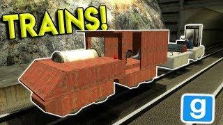 BUILDING & CRASHING TRAINS! - Garry