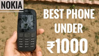 (HINDI) Nokia 105 - Best Feature Phone? best phone under 1000? (2018)