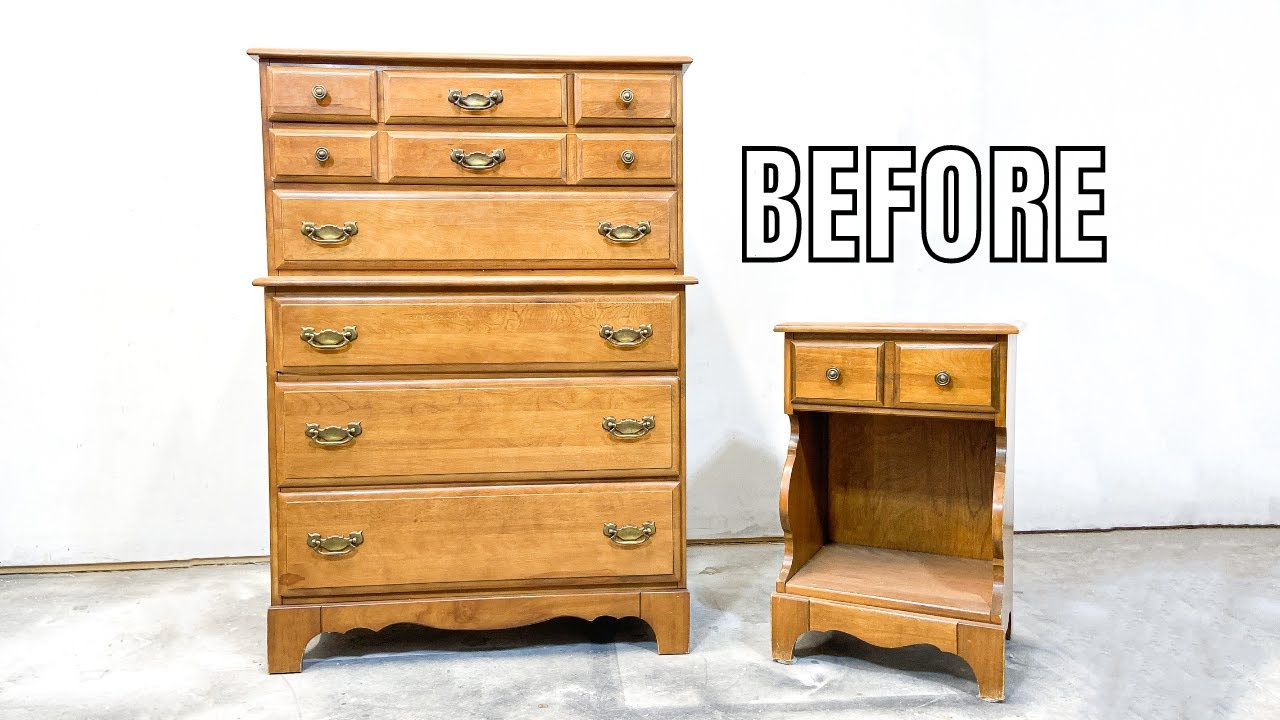 FREE FB Marketplace Furniture Flip | Raw Wood and Fusion Mineral Paint Makeover