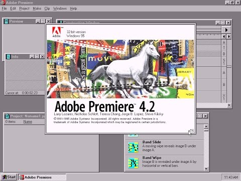 Live: Figuring out Adobe Premiere Version 4.2