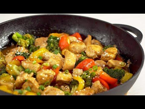 Жареная курица с овощами по-китайски. Аппетитный ужин за 30 минут. Рецепт от Всегда Вкусно!