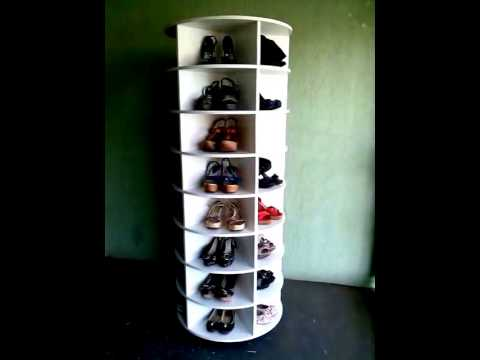 Sapateira giratoria lazy susan shoe rack youtube for Zapatera giratoria