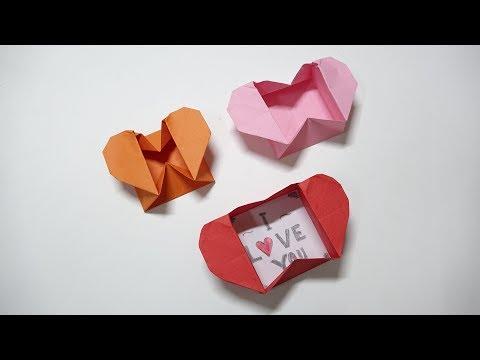 Tutorials Origami : Heart Box & Envelope - I Love You