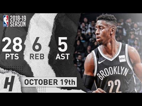 Caris LeVert Full CareerHIGH Highlights Nets vs Knicks 20181019  28 Pts, GameWINNER!