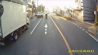 ドラレコ映像・迷惑駐車の南日本運輸のトラック