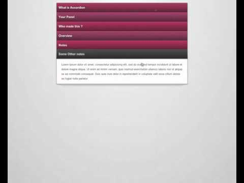3D Accordion pure CSS3 HTML5