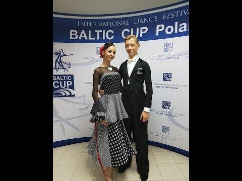 2017 Baltic cup Elblag WDSF Open Junior II STANDART semifinal Justas & Aine