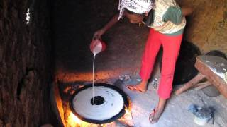 Making Injera In West Wollega, Ethiopia
