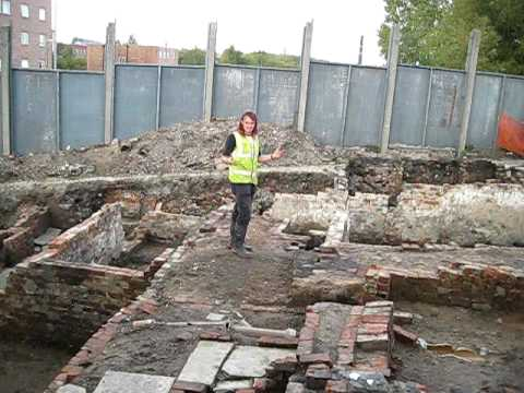 Part 4 - Angel Street Excavation in Manchester by Oxford Archaeology North - 10/10/09