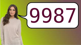 How to say '9987' in French?