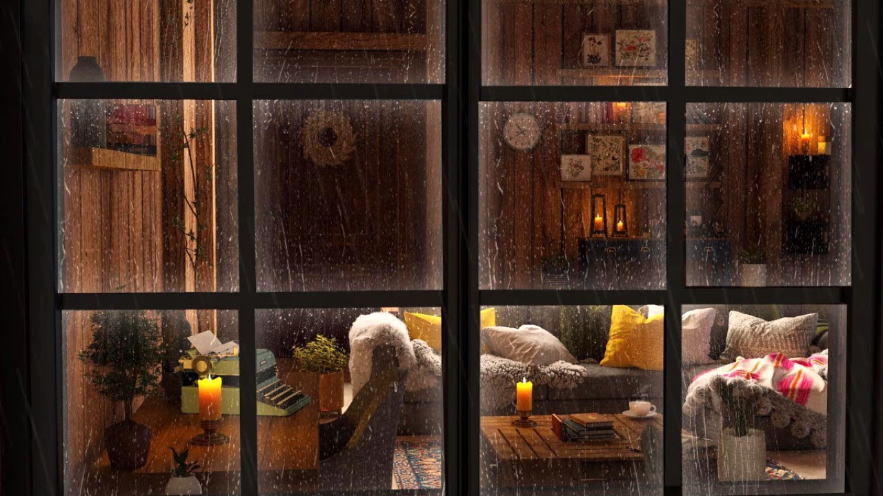 Investing in your Sleep with Rain on Window | Cozy Apartment Outside