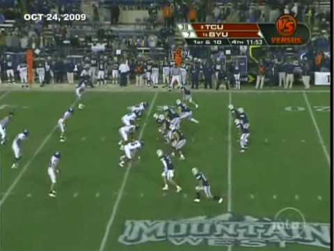 DE Jerry Hughes of TCU versus BYU 2009