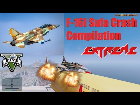 GTA V: NaturalVision Falcon F-16I Sufa Israeli Air Force Crash Compilation