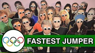 Fast Jumping - Runforthecube Celebrity Olympics - Beyonce Knowles, Kim Kardashian, Sanjeev Cube