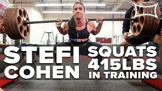 Stefi Cohen Smashes 415 Squat In Crazy Leg Workout With Hayden Bowe