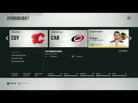 NHL 18- Franchise Expansion Mode, Quebec Nordiques EP.1 EXPANSION DRAFT