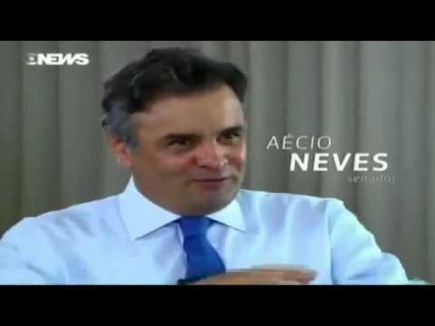 Senador Aécio Neves (PSDB - MG) é entrevistado no programa de Roberto D'Avila