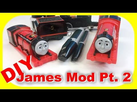 Thomas and Friends - How to - James in black paint! Follow along modification! Tutorial Pt. 2
